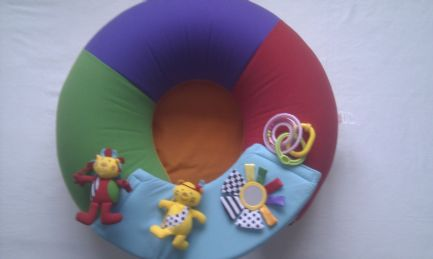 Adorable Big My 1st Redkite Baby 'Sit me up' Inflatable Ring & Play Tray